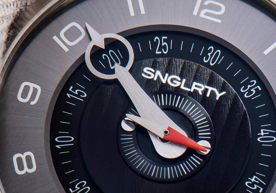 SNGLRTY Watch detailed shot watch face