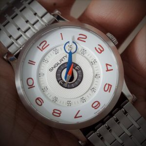 SNGLRTY OHI2 in white with red swiss super luminova
