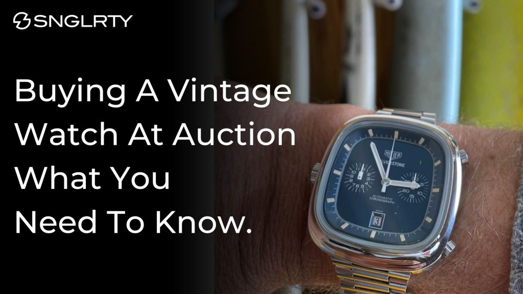 buying a vintage watch at auction title card