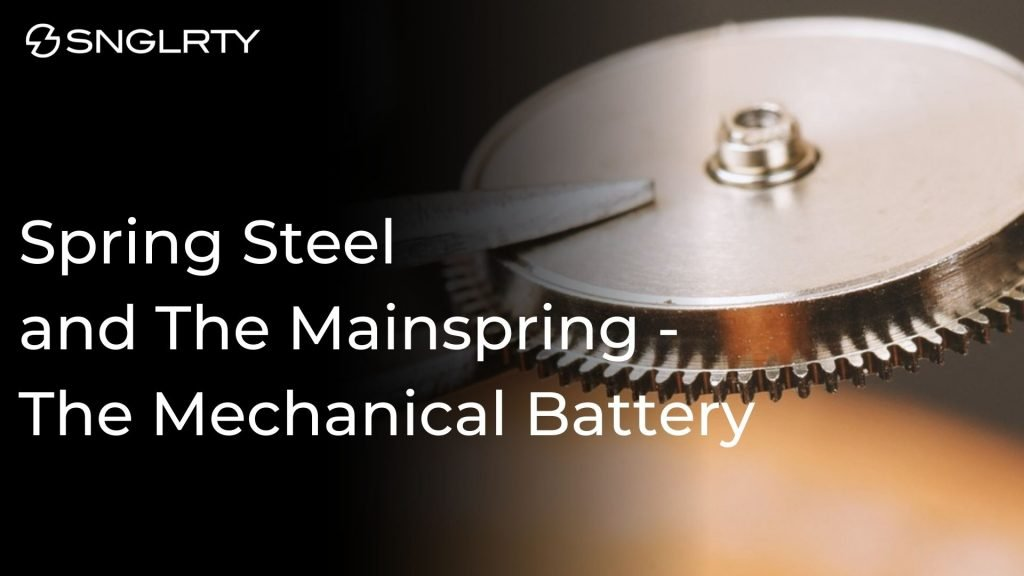 spring steel assembled in a mainspring barrel