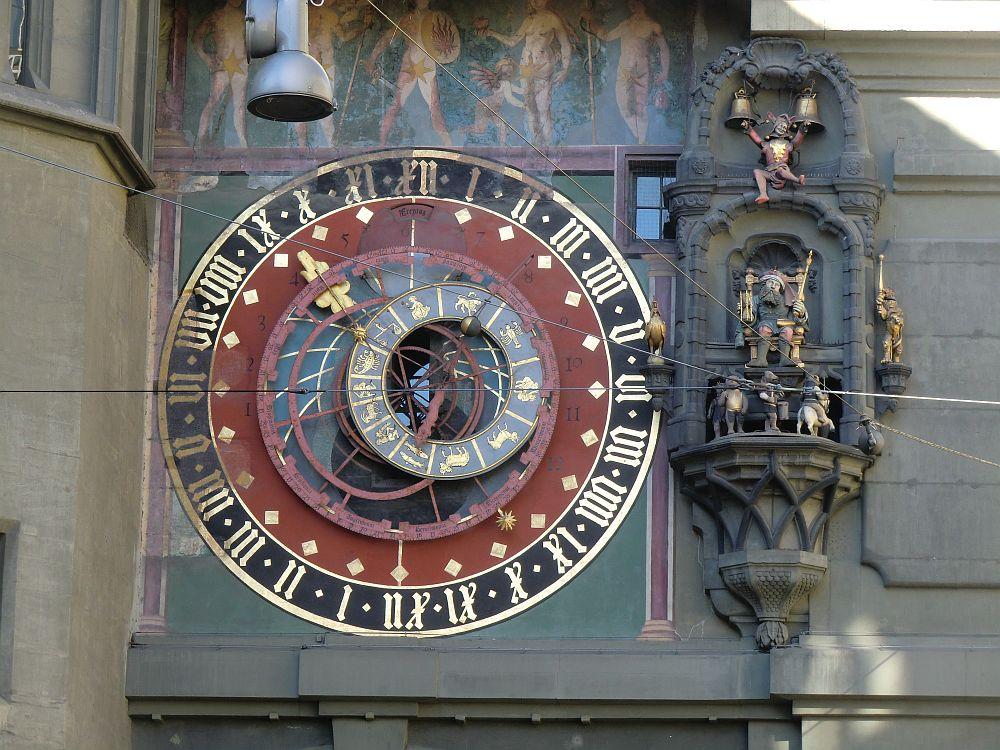 15th century astronomical clock seen in Bern Switzerland