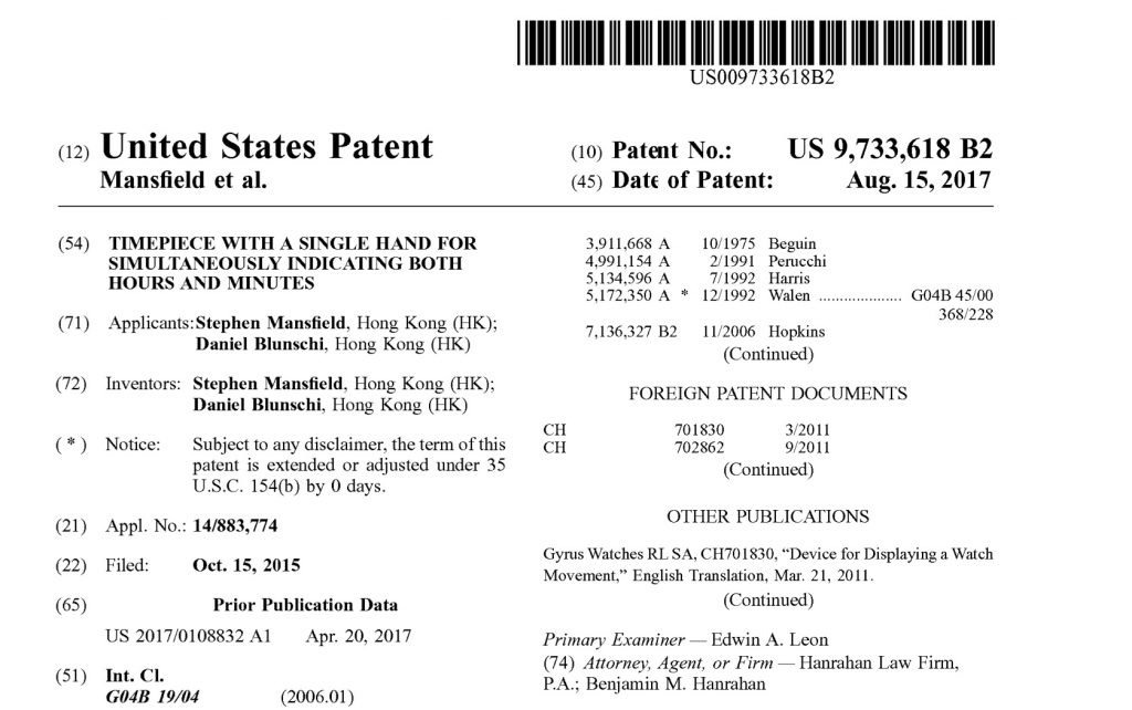 Front page of the SNGLRTY patent