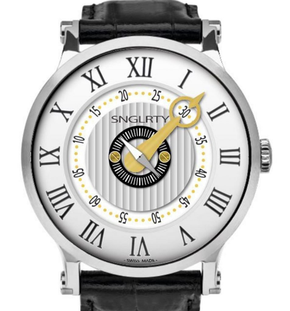 SGLRTY watch with roman numerals and gold hand