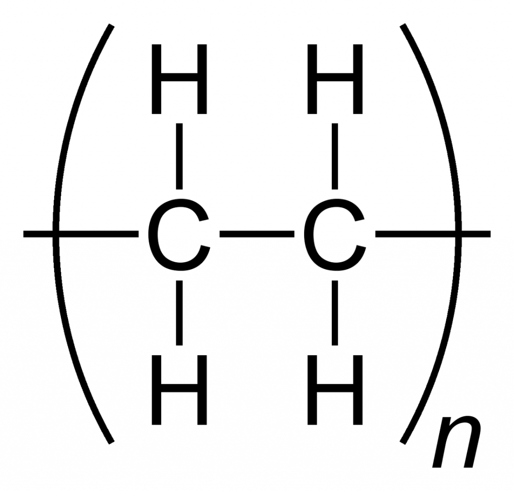 a simple representation of the chemical structure of polyethylene