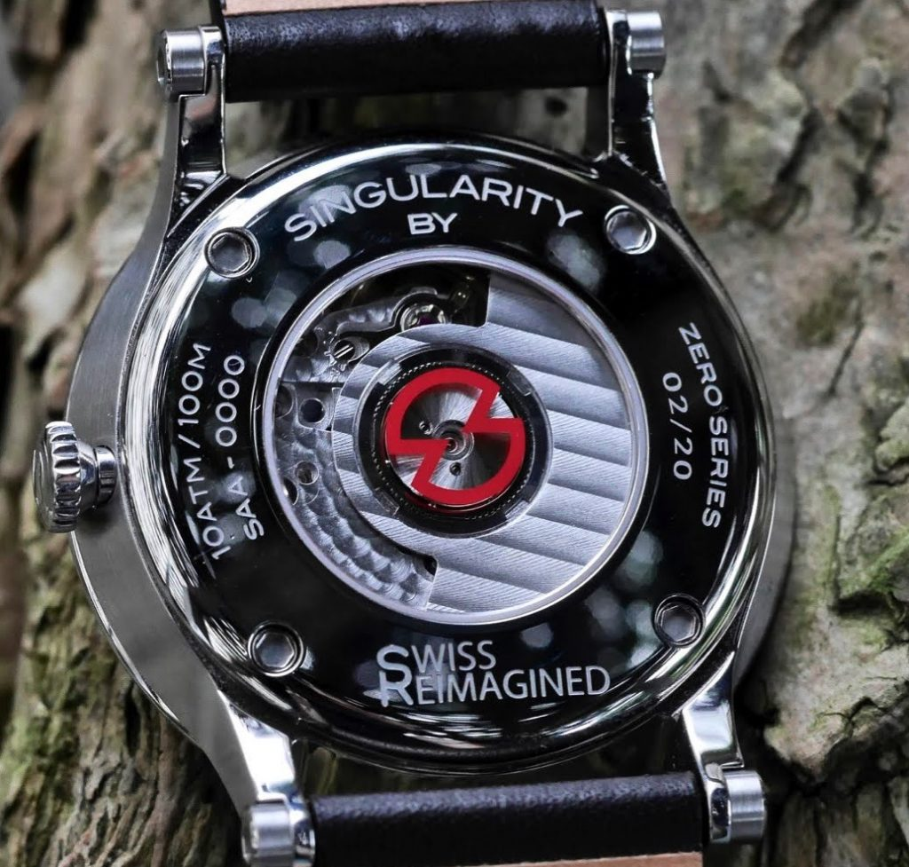 The caseback of #2 watch from the Zero Series.