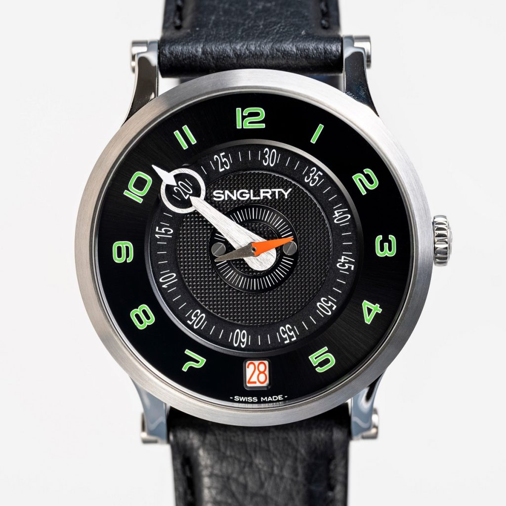 snglrty accuate single handed watch